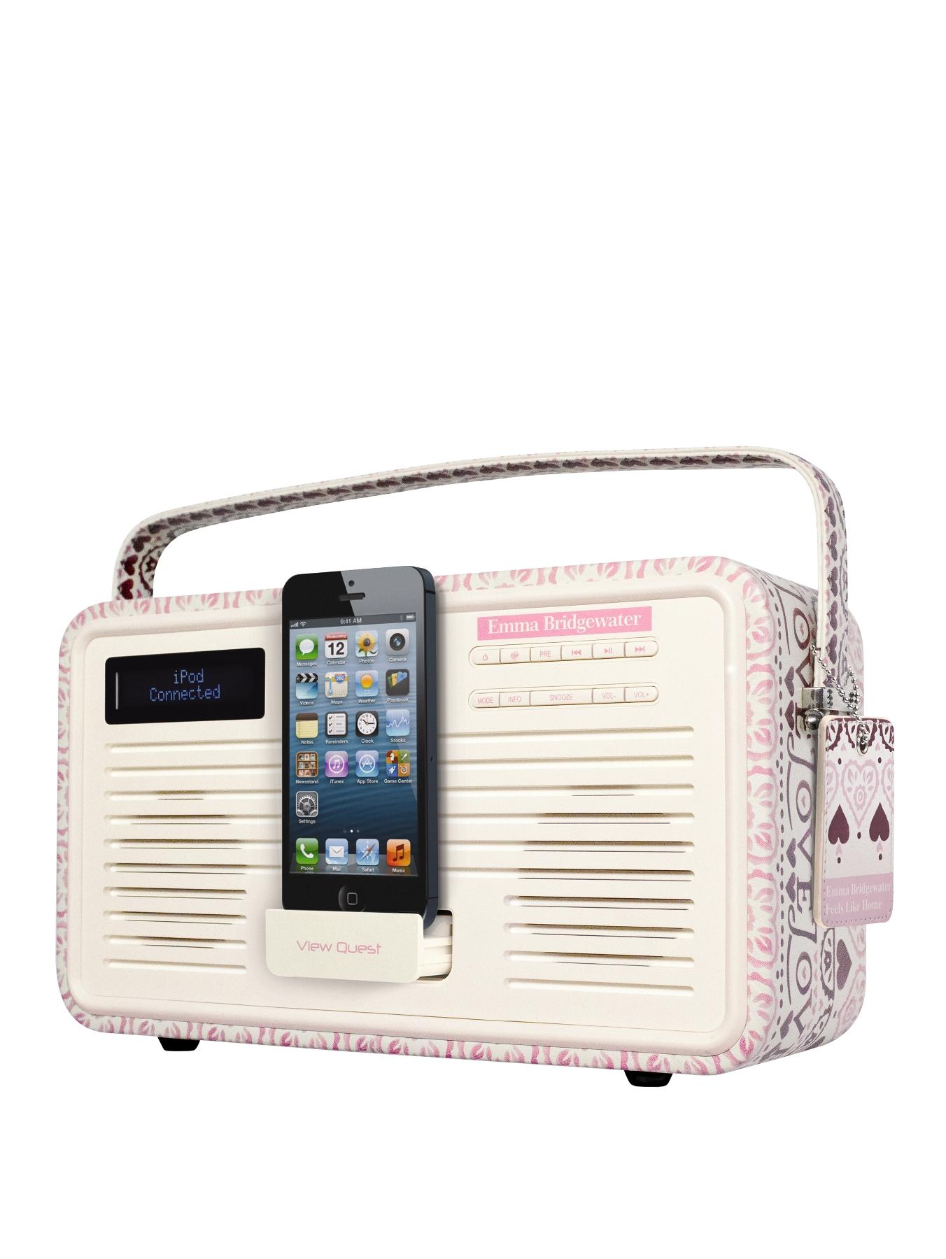 View Quest Emma Bridgewater Retro Dab Radio With 30 Pin Dock - Sampler