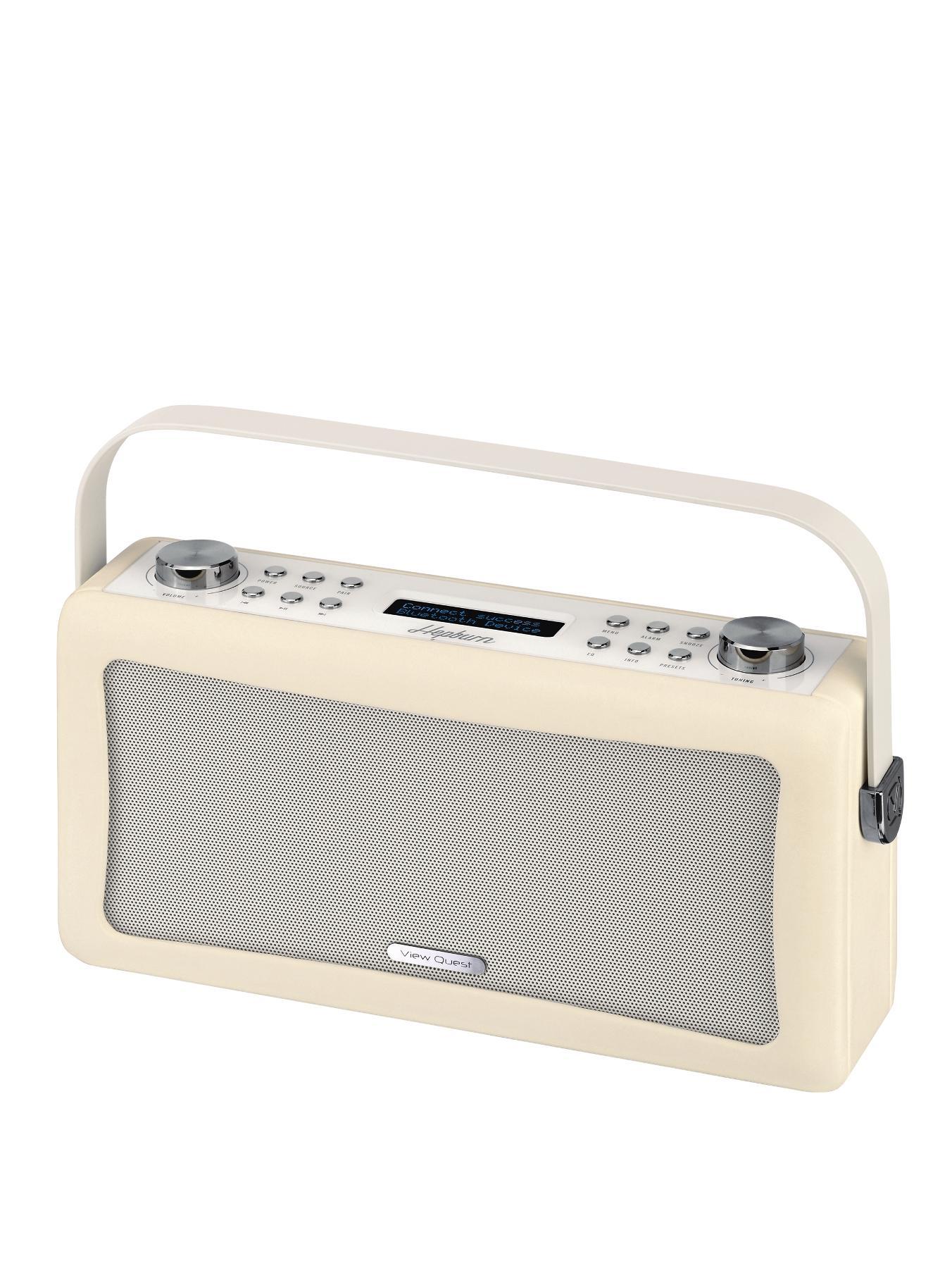 View Quest Hepburn Portable Bluetooth DAB Radio - Cream