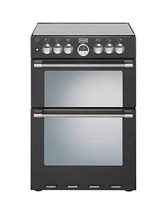 stoves-sterling-600df-60cm-double-oven-dual-fuel-mini-range-cooker-black