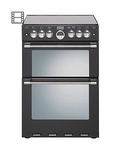 stoves-600g-60cm-double-oven-gas-sterling-mini-range-cooker-black