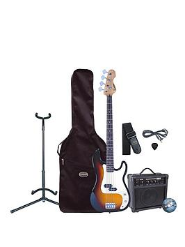 encore electric bass guitar set up with amp sunburst. Black Bedroom Furniture Sets. Home Design Ideas