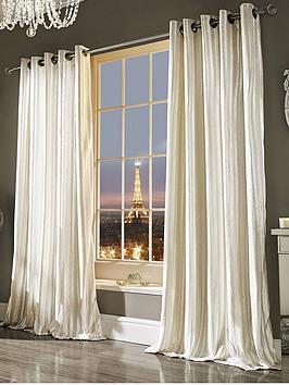 Kylie Minogue Iliana Lined Eyelet Curtains