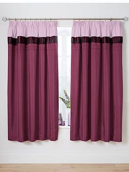Velvet panel curtains purple