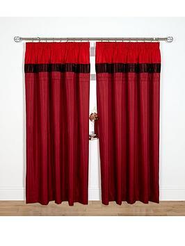 velvet-panel-curtains-red