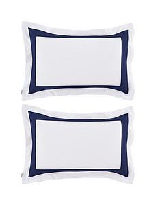 catherine-lansfield-bianca-tailored-oxford-pillowcase-pair-navy
