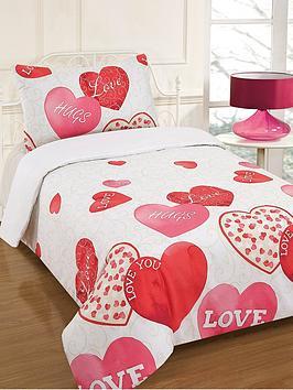 Lovely Hearts Duvet Cover Set