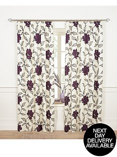 floral-pleated-curtains