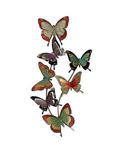 rainbow-butterflies-metal-wall-art