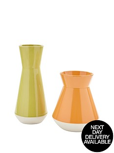set-of-2-vases-greenorange