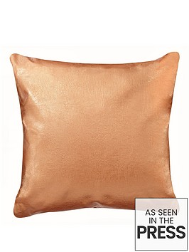 metallic-faux-leather-cushion