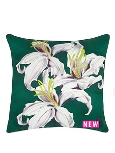 laurence-llewelyn-bowen-lily-print-cushion-whitegreen