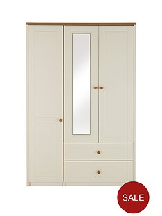 alderley-3-door-mirrored-combi-wardrobe