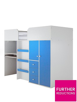 miami-fresh-kids-midsleeper-bed-with-wardrobe-drawers-desk-and-optional-mattress