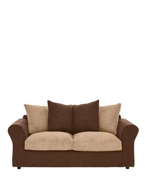 Beige three seater sofa beds home garden www for Sofa bed very