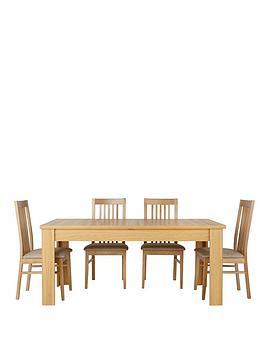 consort-belvoir-ready-assembled-170-213-cm-extending-dining-table-4-chairs