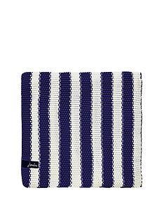 joules-moss-stitch-stripe-blanket-blue