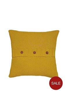 joules-moss-stitch-cushion-yellow
