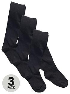 top-class-girls-flat-knit-school-tights-3-pack