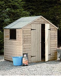 forest-7-x-5ft-double-door-with-single-styrene-window-overlap-shed