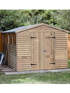 forest-10-x-8-ft-double-door-overlap-garden-shed-assembly-option-available
