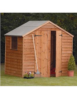 forest-7-x-5-ft-double-door-1-styrene-window-overlap-garden-shed