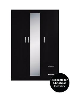 portland-3-door-2-drawer-mirrored-wardrobe