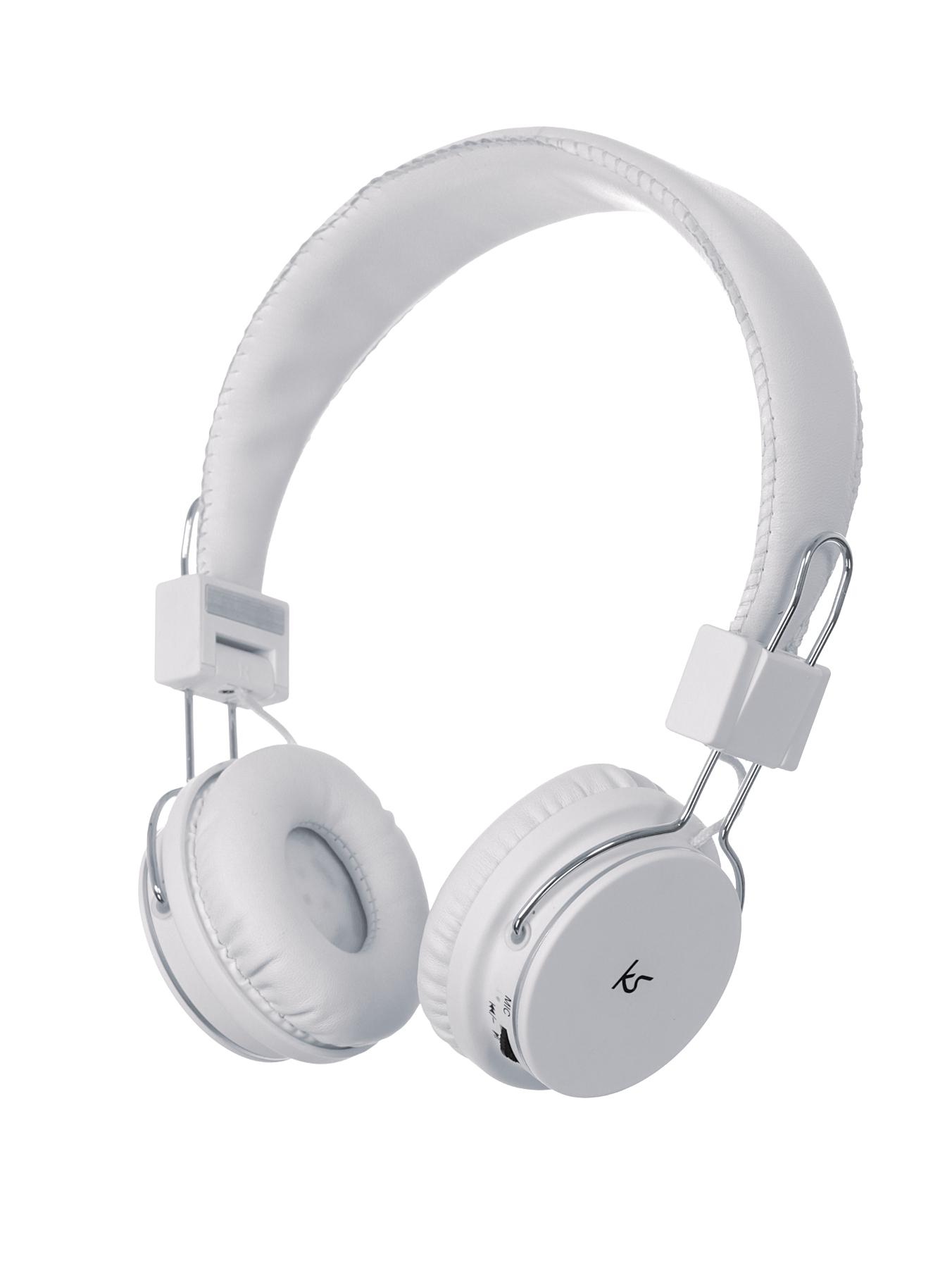Kitsound Manhattan Over Ear Headphones With Mic - White