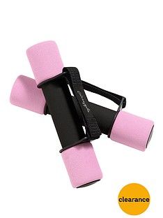 pineapple-foam-dumbells-with-straps-5lbs
