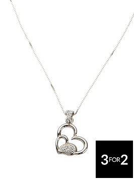 the-love-silver-collection-sterling-silver-crystal-set-heart-pendant