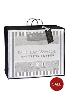 downland-faux-lambswool-mattress-topper