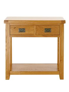 oakland-2-drawer-solid-oak-console-table