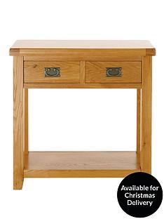 oakland-oak-2-drawer-console-table