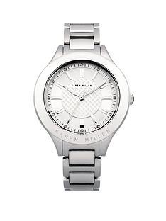 karen-millen-silver-dial-and-stainless-steel-stone-set-bracelet-ladies-watch