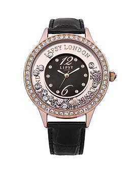 lipsy-rose-gold-stone-floating-stones-dial-and-black-croc-strap-ladies-watch