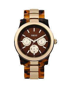 oasis-brown-dial-tortoise-shell-bracelet-ladies-watch