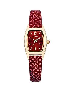 oasis-red-dial-and-red-snake-leather-strap-ladies-watch