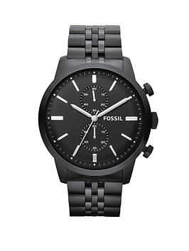 fossil-mens-townsman-black-face-3-hand-chronograph-black-tone-plated-stainless-steel-watch