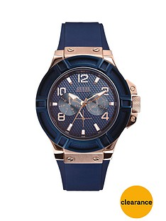 guess-rigor-sunray-blue-multifunctional-dial-rose-gold-blue-smooth-silicone-strap-watch