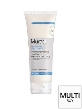 murad-anti-ageing-time-release-blemish-cleanser-200ml-free-murad-essentials-gift