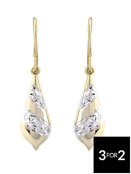 the-love-silver-collection-sterling-silver-patterned-bomber-earrings