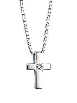 d-for-diamond-childrens-sterling-silver-cross-pendant