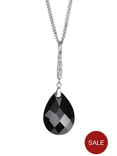 elements-sterling-silver-with-black-and-white-cubic-zirconia-teardrop-pendant