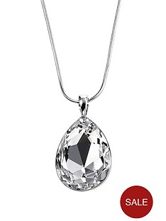 elements-sterling-silver-teardrop-clear-swarovski-crystal-pendant