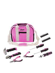 rolson-25-piece-pink-tool-bag-kit