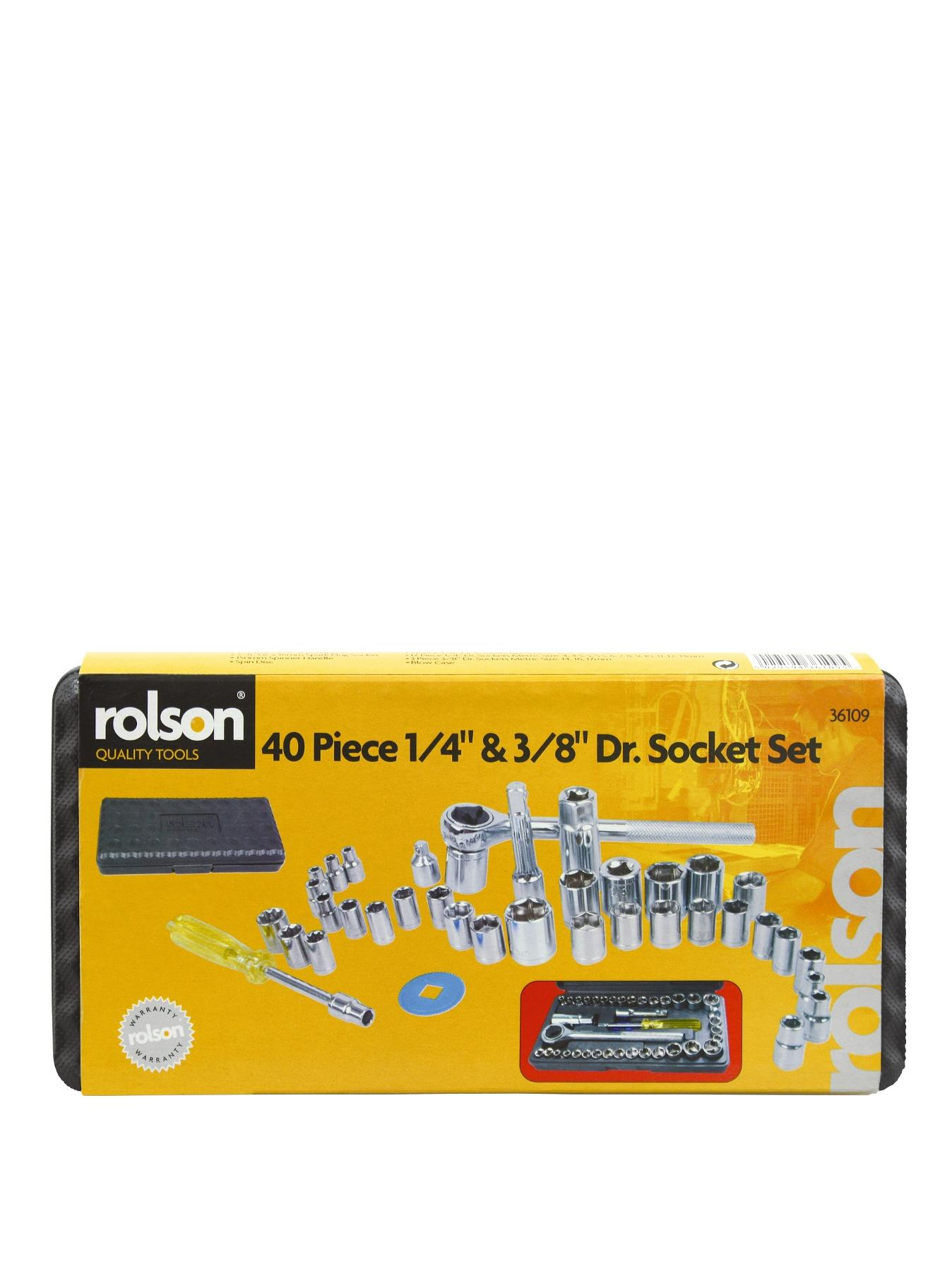 Rolson Dr Socket Set 1/4 inch and 3/8 inch (40-piece)