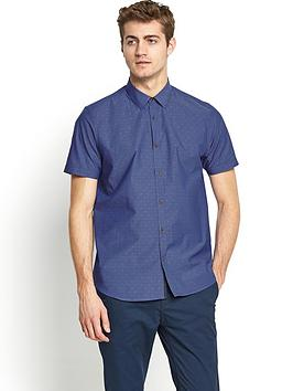 ted-baker-mens-short-sleeved-dobby-spot-shirt