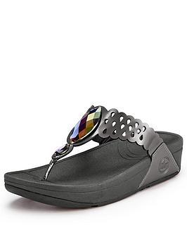 fitflop-bijootrade-metallic-leather-jewelled-flip-flops