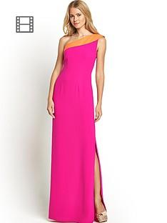 one-shoulder-turnback-maxi-dress