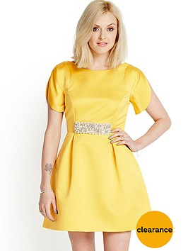 fearne-cotton-petal-sleeve-prom-dress