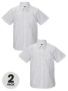 top-class-boys-short-sleeved-premium-non-iron-shirts-2-pack